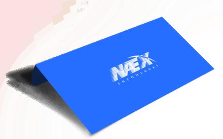 Envelope Azul da Naex Hora Certa