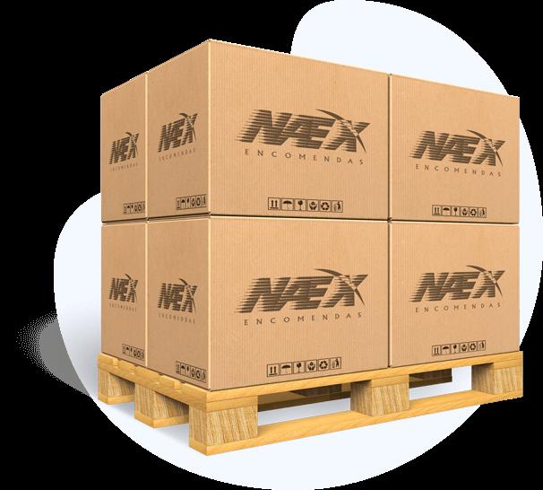 Montante de caixas Naex sobrepostas